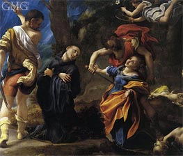 Martyrdom of the Saints Placido, Flavia, Eutichio and Vittorino, c.1523 by Correggio | Painting Reproduction