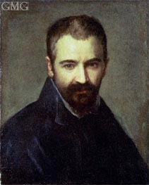 Possible Self Portrait, undated by Correggio | Painting Reproduction