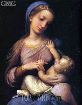 Madonna and Child (Madonna Campori), c.1519 | Correggio | Painting Reproduction