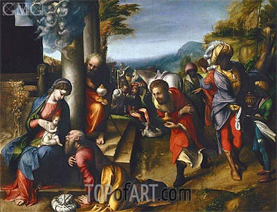 Adoration of the Magi, c.1517 | Correggio | Gemälde Reproduktion
