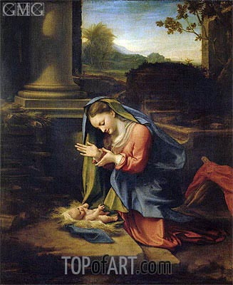 Our Lady Worshipping the Child, c.1525 | Correggio | Gemälde Reproduktion