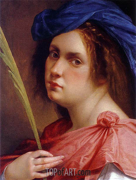 Self-Portrait as a Female Martyr, c.1615 | Artemisia Gentileschi | Painting Reproduction