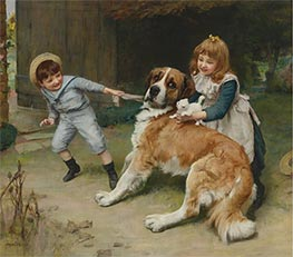 Friend or Foe, 1891 by Arthur John Elsley | Painting Reproduction