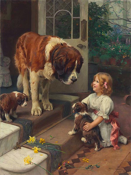 Here He Comes, 1917 | Arthur John Elsley | Painting Reproduction