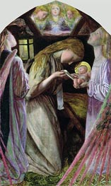 The Nativity, 1858 by Arthur Hughes | Painting Reproduction