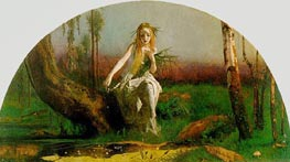 Ophelia, c.1851/53 by Arthur Hughes | Painting Reproduction