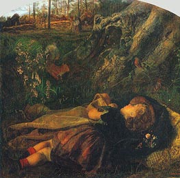 The Woodsman's Child, 1860 by Arthur Hughes | Painting Reproduction