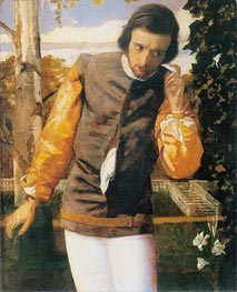Benedick at the Arbor, c.1852/53 by Arthur Hughes | Painting Reproduction