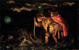 Jack O'Lantern, 1872 by Arthur Hughes | Painting Reproduction