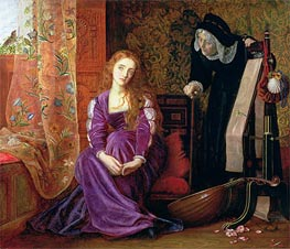The Pained Heart (Sigh No More, Ladies), 1868 von Arthur Hughes | Gemälde-Reproduktion