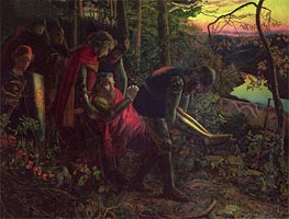 The Knight of the Sun, c.1859/60 by Arthur Hughes | Painting Reproduction