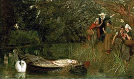 The Lady of Shalott, 1858 von Arthur Hughes | Gemälde-Reproduktion