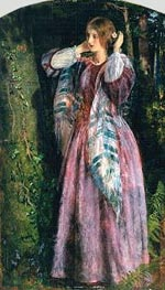 Amy (Study For The Long Engagement), 1857 von Arthur Hughes | Gemälde-Reproduktion