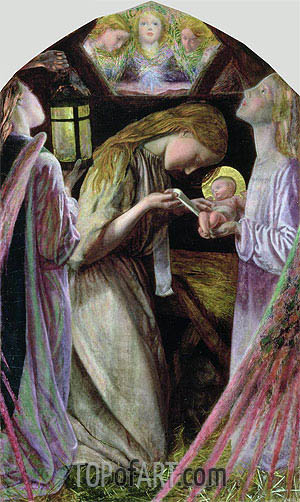 The Nativity, 1858 | Arthur Hughes | Painting Reproduction