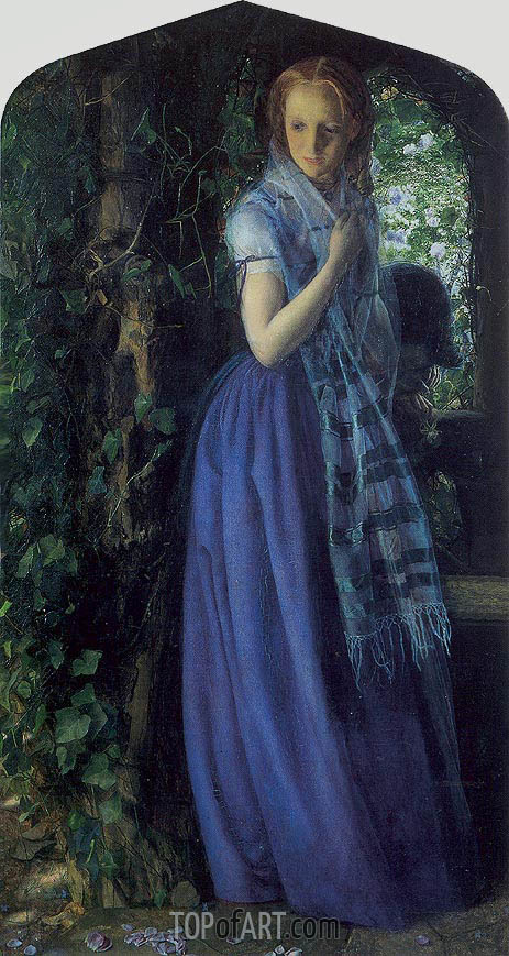 April Love, 1855 | Arthur Hughes | Painting Reproduction