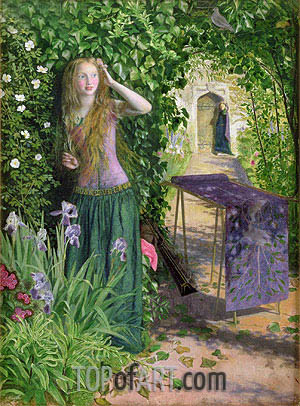 Fair Rosamund, 1854 | Arthur Hughes | Painting Reproduction