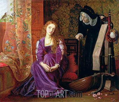 The Pained Heart (Sigh No More, Ladies), 1868 | Arthur Hughes | Gemälde Reproduktion