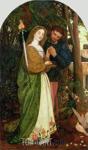 The Guarded Bower, 1866 | Arthur Hughes | Gemälde Reproduktion