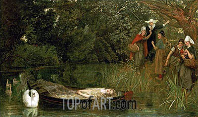 The Lady of Shalott, 1858 | Arthur Hughes | Painting Reproduction