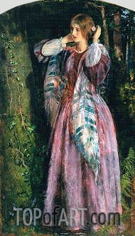 Amy (Study For The Long Engagement), 1857 | Arthur Hughes | Painting Reproduction