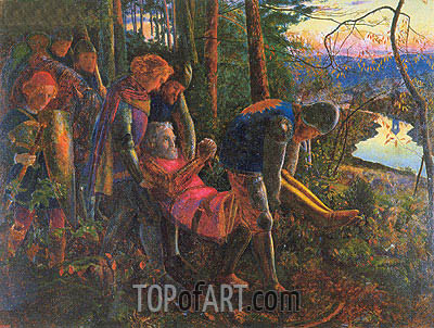 The Knight of the Sun, 1860 | Arthur Hughes | Painting Reproduction