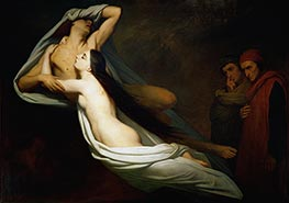 Francesca da Rimini, 1835 by Ary Scheffer | Painting Reproduction