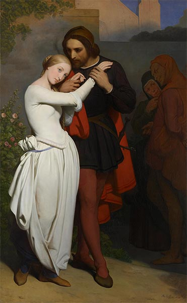 Faust and Marguerite in the Garden, 1846 | Ary Scheffer | Painting Reproduction
