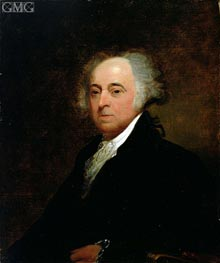 Portrait of John Adams, 1835 von Asher Brown Durand | Gemälde-Reproduktion