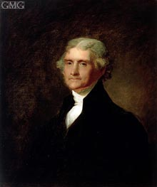 Portrait of Thomas Jefferson, c.1835 by Asher Brown Durand | Painting Reproduction