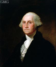 Portrait of George Washington, Undated von Asher Brown Durand | Gemälde-Reproduktion