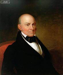 John Quincy Adams, 1835 by Asher Brown Durand | Painting Reproduction