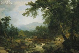Monument Mountain, Berkshires, c.1855/60 by Asher Brown Durand | Painting Reproduction