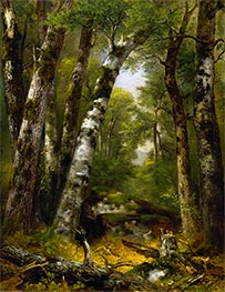 Woodland Glen, c.1850/55 by Asher Brown Durand | Painting Reproduction
