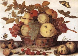 Basket of Fruits, c.1632 by van der Ast | Painting Reproduction