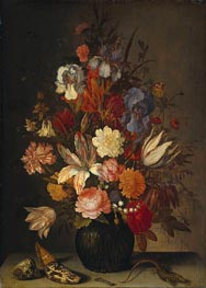 Still Life with Flowers, c.1632/57 by van der Ast | Painting Reproduction