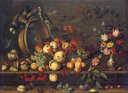 Still Life with Fruits, Shells and Insects | van der Ast | Painting Reproduction