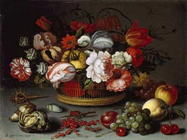 Basket of Flowers, c.1622 by van der Ast | Painting Reproduction