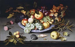 Still Life of Fruit on a Kraak Porcelain Dish | van der Ast | Painting Reproduction