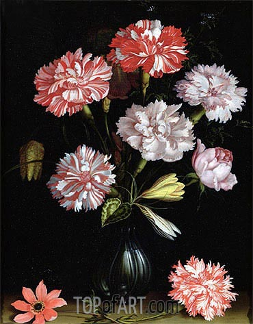 Floral Study: Carnations in a Vase, undated | van der Ast | Painting Reproduction