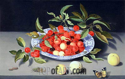 Still Life of Cherries and Peaches, undated | van der Ast | Painting Reproduction