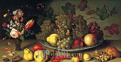 Still Life with Fruits and Flowers, c.1620 | van der Ast | Painting Reproduction