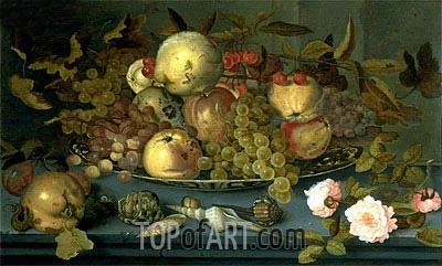 Still Life with Fruits, undated | van der Ast | Painting Reproduction