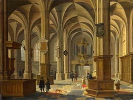 Interior of St Cunerakerk, Rhenen, 1638 by Bartholomeus van Bassen | Painting Reproduction