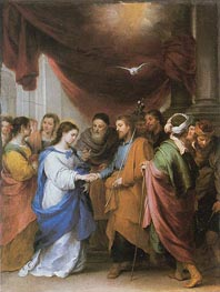 The Marriage of the Virgin, c.1660/70 von Murillo | Gemälde-Reproduktion