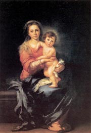 The Madonna and Child, c.1650 von Murillo | Gemälde-Reproduktion