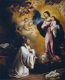 The Virgin Appears to Saint Bernard, c.1660 von Murillo | Gemälde-Reproduktion