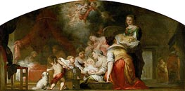 The Birth of the Virgin, 1661 von Murillo | Gemälde-Reproduktion