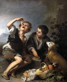 The Pie Eaters | Murillo | Painting Reproduction