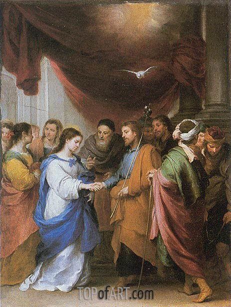 The Marriage of the Virgin, c.1660/70 | Murillo | Gemälde Reproduktion