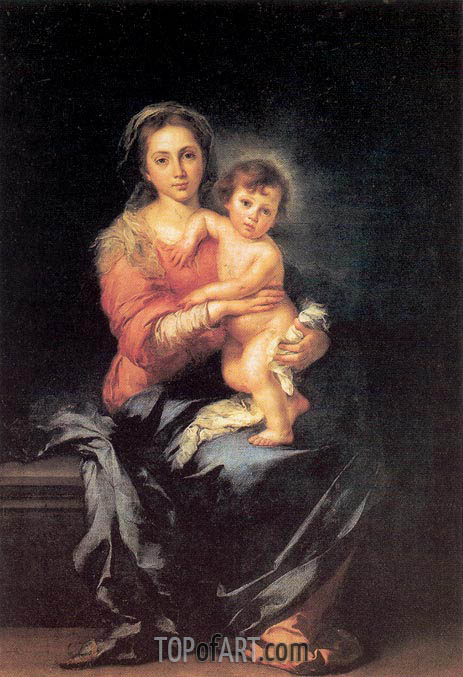 The Madonna and Child, c.1650 | Murillo | Gemälde Reproduktion